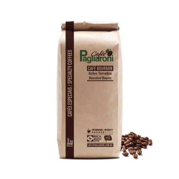 Cafés Pagliaroni Grãos Torrados Bourbon 1kg