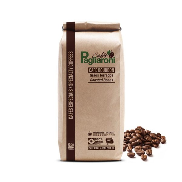 Cafés Pagliaroni Grãos Torrados Bourbon 250g