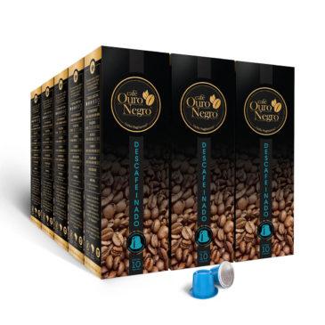 Café Ouro Negro <br>Descafeinado para Nespresso<br>Kit 150 Cápsulas